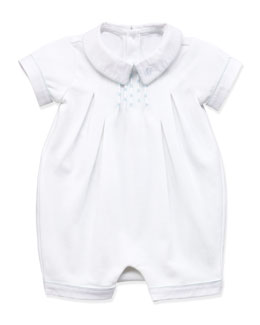 Ralph Lauren Childrenswear Jersey Knit Shortall, White, 3-12 Months