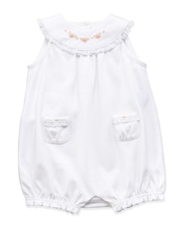 Ralph Lauren Childrenswear Embroidered Yoke Bubble-Playsuit, 3-12 Months