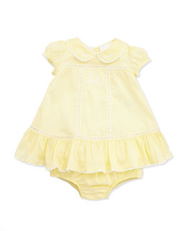 Ralph Lauren Childrenswear Batiste Deco Dress, Cream, Baby Girls' 3-12 Months