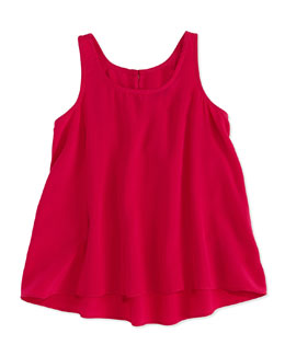 Ralph Lauren Childrenswear Georgette-Silk Tank, Pink, Girls' 4-6X