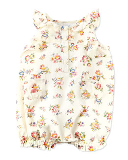 Ralph Lauren Childrenswear Floral-Print Bubble Shortall, Multi, 9-24 Months