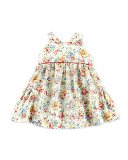 Ralph Lauren Childrenswear Floral-Print Cotton Dress & Bloomer, 3-12 Months