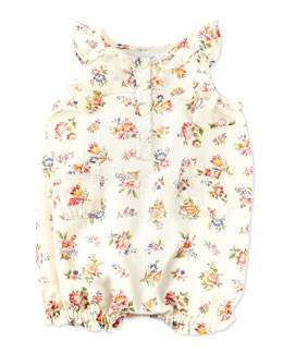 Ralph Lauren Childrenswear Floral-Print Bubble Shortall, Multi, 3-24 Months