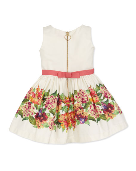 Vintage Floral Party Dress, Multi, Sizes 8-10