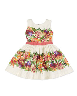 Zoe Vintage Floral Party Dress, Multi, Sizes 8-10