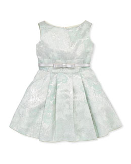 Zoe Peppermint Brocade Party Dress, Sizes 2-6