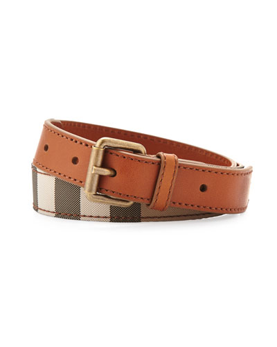 Burberry Boys' Check Canvas Belt