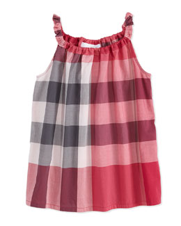 Burberry Check Tank Top, Girls' 4Y-10Y