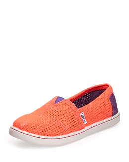 TOMS Freetown Two-Tone Mesh Slip-On, Youth