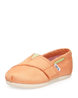 TOMS Grosgrain Bimini Boat Shoe, Peach, Tiny
