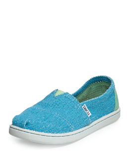 TOMS Freetown Two-Tone Mesh Slip-On, Blue, Youth