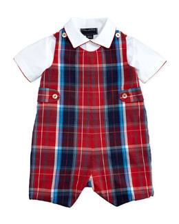 Oscar de la Renta Plaid Jumper & Shirt Set, 12-24 Months