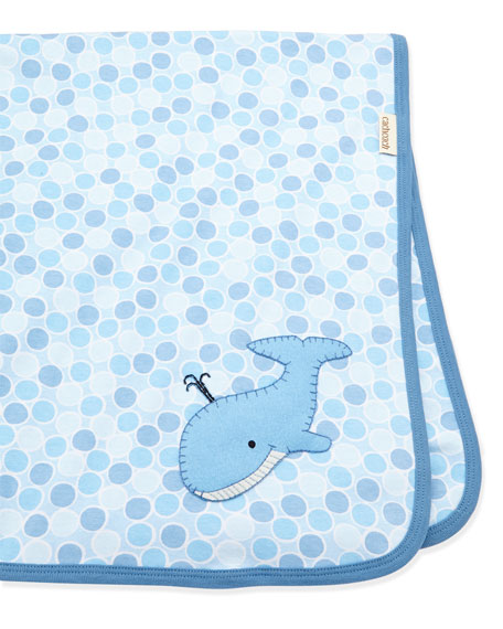 Cach Cach Baby Boy S Whale Blanket Blue