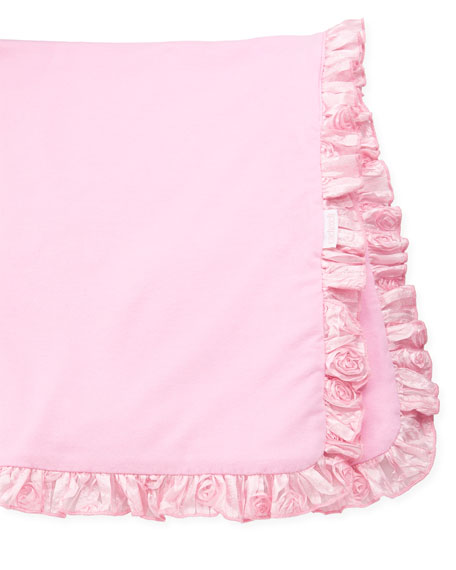 Ruffled Rose Blanket, Pink