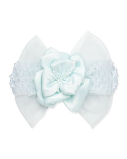 Cach Cach Tulle and Floral Headband, Aqua