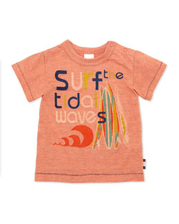 Bitz Kids Surf-Graphic Tee, Orange, 12-24 Months