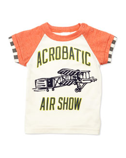 Bitz Kids Air Show Graphic Tee, Cream, 12-24 Months