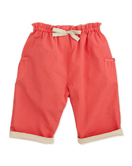 Marie Chantal Dolly Pull-On Trousers, Coral, 6-24 Months