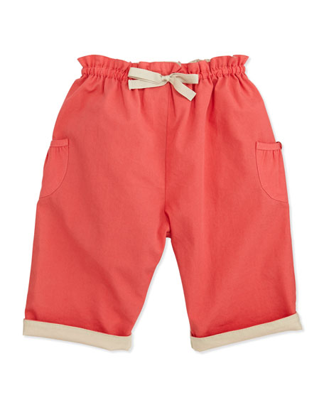Dolly Pull-On Trousers, Coral, 6-24 Months