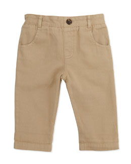 Marie Chantal Pull-On Chino Pants, Khaki, 6-24 Months