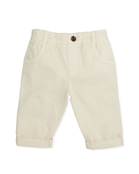 Pull-On Chino Pants, White, 6-24 Months