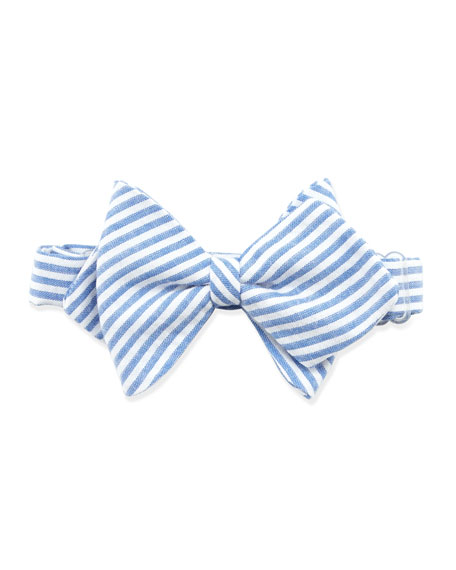 Striped Baby Bow Tie, Blue