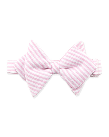 Striped Baby Bow Tie, Pink