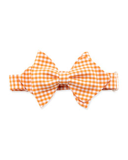 Baby Bow Tie Gingham Baby Bow Tie, Orange