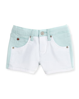 Hudson Vice Versa Denim Shorts, Blue, Girls' 4-6X