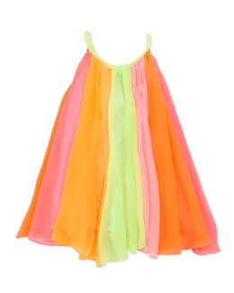 Halabaloo Rainbow Twirl Dress, Multi, Girls' 4-6X