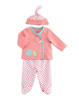 Offspring Birdie-Print Three-Piece Set