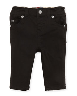 Burberry 5-Pocket Jeans, Black, 3-18 Months