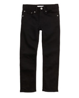 Burberry Skinny Five-Pocket Jeans, Black, 4Y-14Y