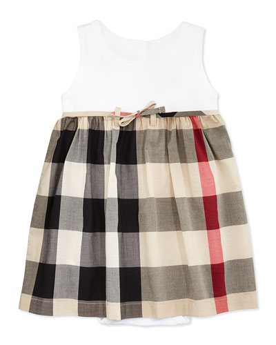 Burberry Ribbed Tank Combo Dress, 6M-2Y