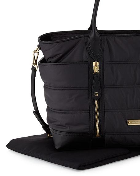 burberry quilted nylon diaper bag black. Black Bedroom Furniture Sets. Home Design Ideas