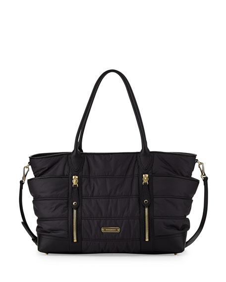 Burberry Quilted Nylon Diaper Bag Black Neiman Marcus