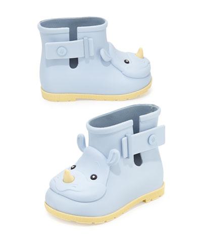 Z17HS Melissa Shoes Sugar Rhino Rain Boots, Blue