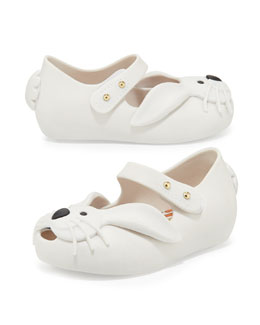Melissa Shoes Ultragirl Rabbit Jelly Shoe, White, Sizes 5-10