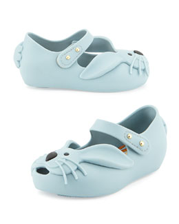 Melissa Shoes Ultragirl Rabbit Jelly Shoe, Gray