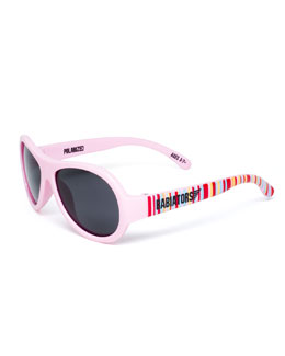 Babiators Polarized Kid's Sunglasses, Pink, Ages 0-3