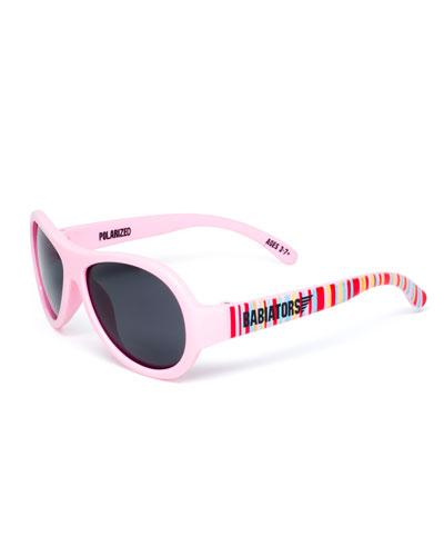 Babiators Polarized Kid's Sunglasses, Pink, Ages 3-7