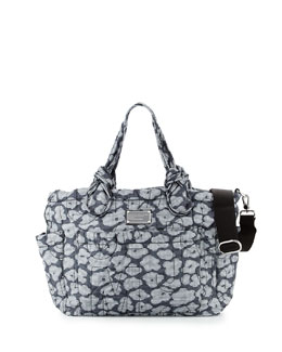 MARC by Marc Jacobs Pretty Nylon Floral-Print Baby Bag, Black