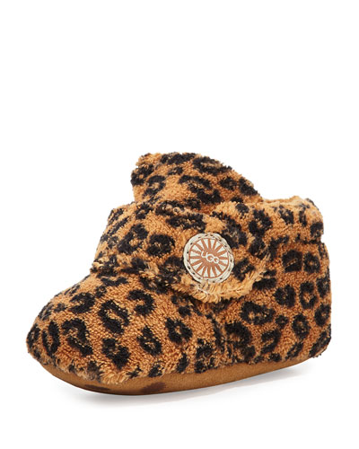 Ugg Australia Bixbee Leopard-Print Terry Cloth Bootie