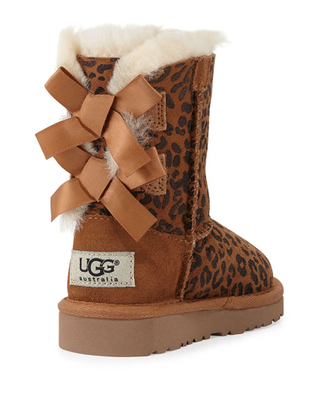 Toddler Bailey Leopard-Print Boot, Chestnut