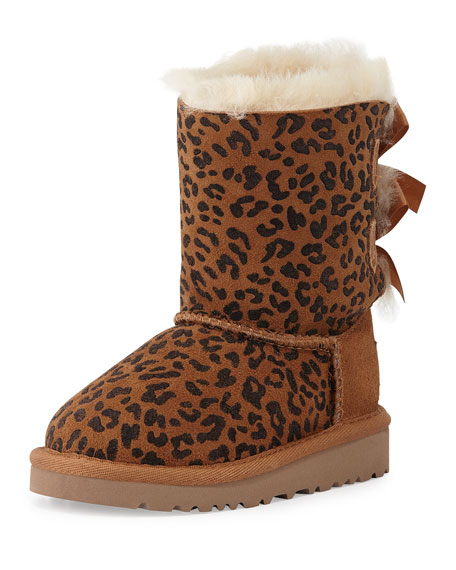 UGG Toddler Bailey Leopard-Print Boot, Chestnut