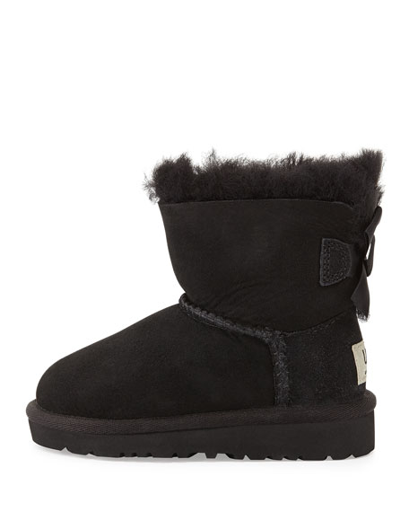 Mini Bailey Bow-Back Boot, Black, Toddler