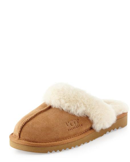 UGG Kids' Cozy Suede Slipper, Chestnut, 10T-6Y