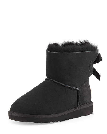 UGG Australia Kids' Mini Bailey Bow Short Boot, Black, 13T-4Y | Neiman Marcus