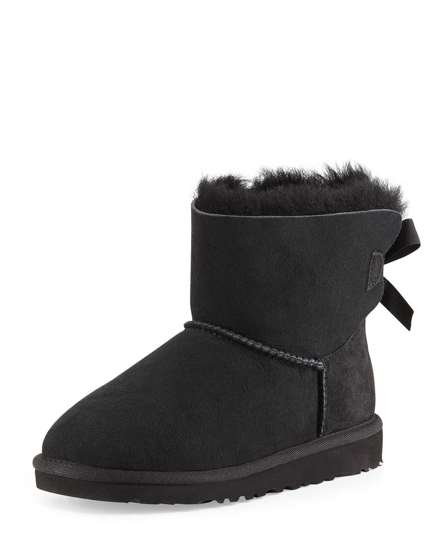 8a1487d0d92 Kids' Mini Bailey Bow Short Boot, Black, 13T-4Y