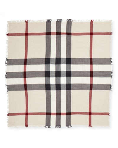 Burberry Kids' Check Merino Wool Scarf